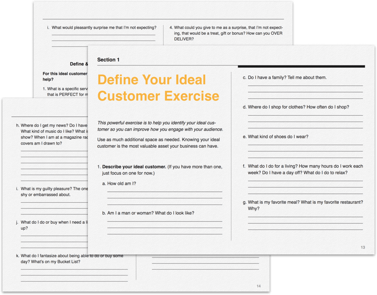 Greta Rose Define Your Ideal Customer Exercise