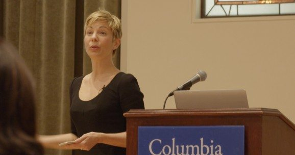 Greta Rose Zagarino speaks at Columbia University
